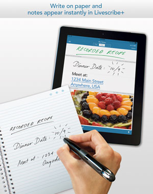 Livescribe+ paper to iPad