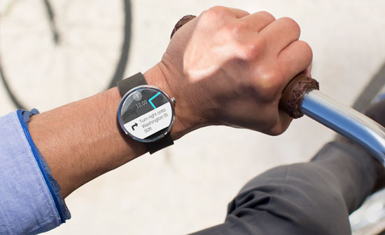 Moto 360 smartwatch map