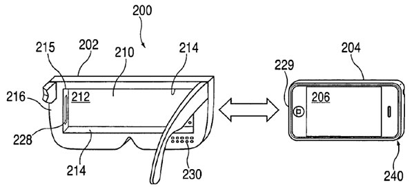 Apple virtual reality headset drawing