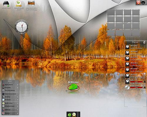 Bodhi Linux Enlightenment desktop