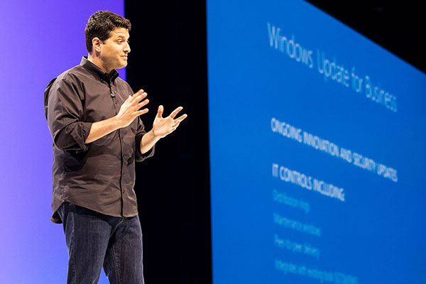 Terry Myerson at Microsoft Ignite 2015