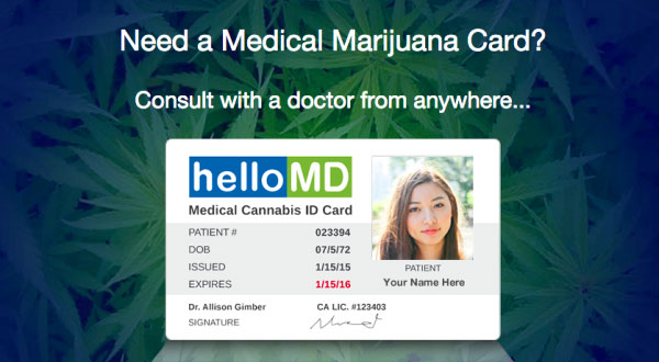 HelloMD Medical Cannabis ID Card