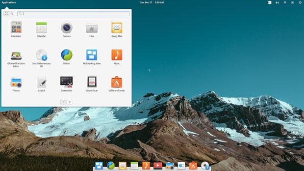 Elementary OSdesktop
