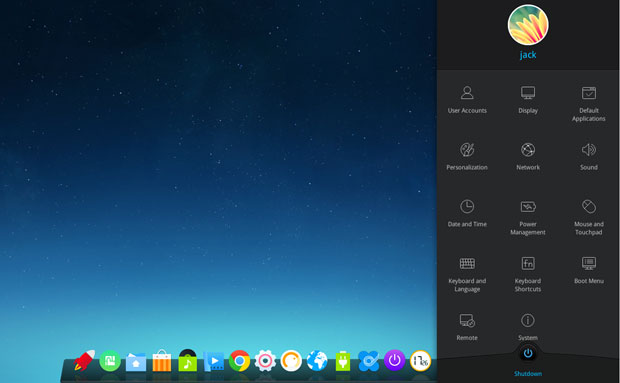 Deepin dock bar