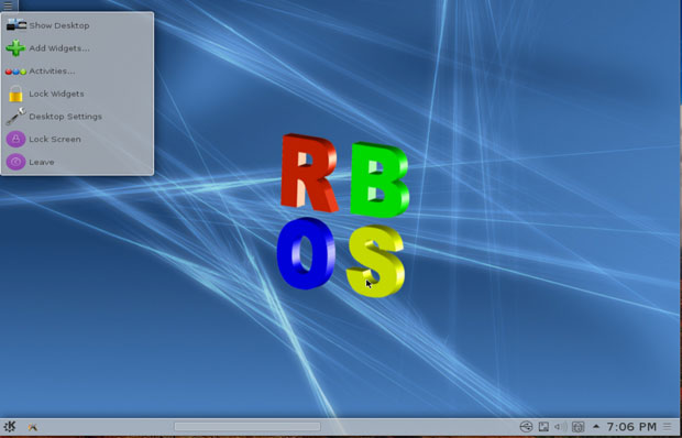 RBOS KDE shell environment