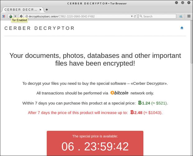 cerber decryptor tor browser adobe ransomware attack