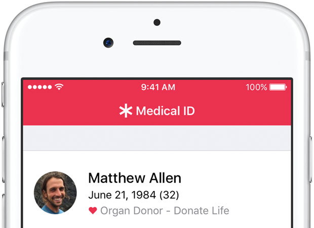 Apple Health and Donate Life America