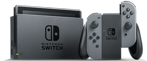Nintendo Switch console and controllers