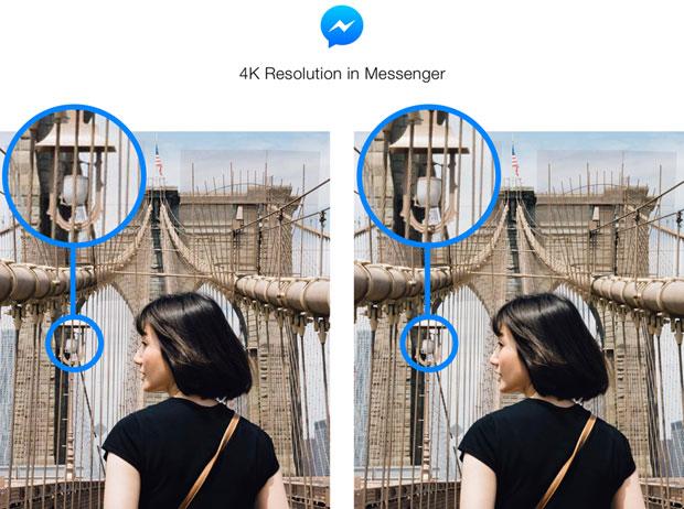 4K Resolution in Messenger Brooklyn Bridge