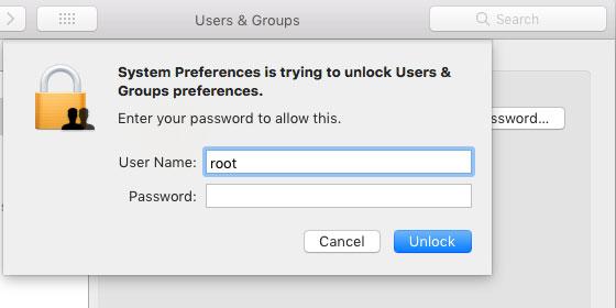 macOS High Sierra root vulnerability