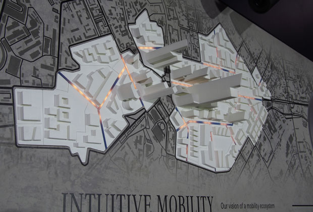 At the NAIAS in Detroit Mercedes demonstrated how special roads could be fit into the existing city grids