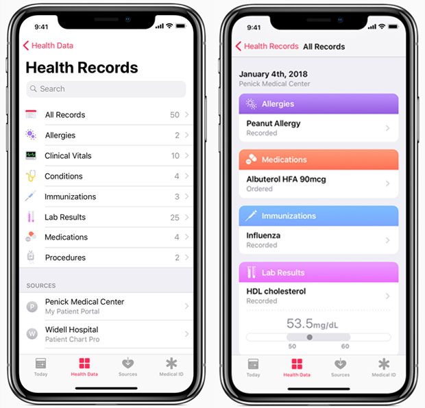 Health Records app