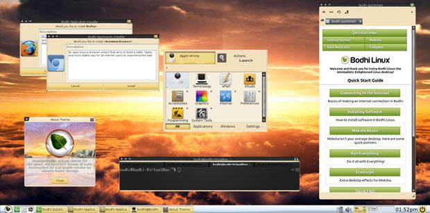 Bodhi Linux 5.0.0 desktop design