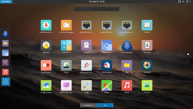 Antergos 18.9 desktop
