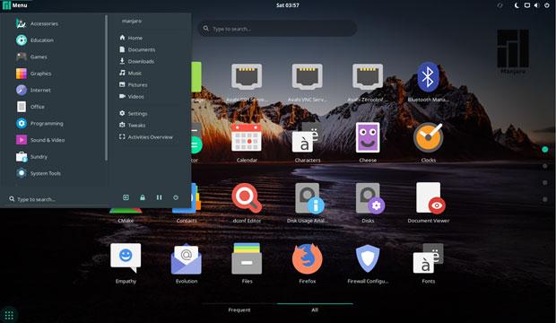 Manjaro-GNOME desktop