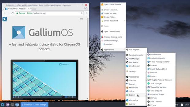 GalliumOS Xfce desktop