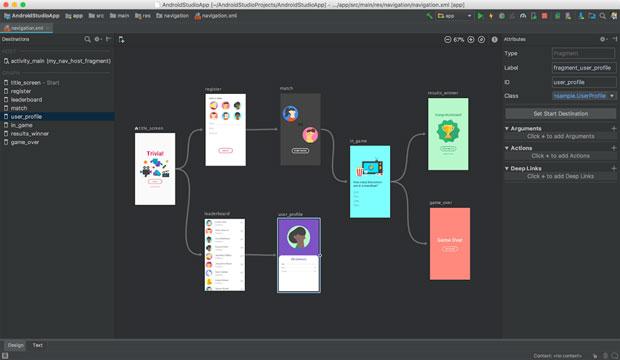 Jetpack navigation editor