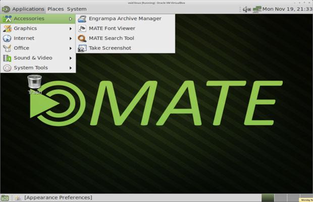 Void Linux MATE desktop