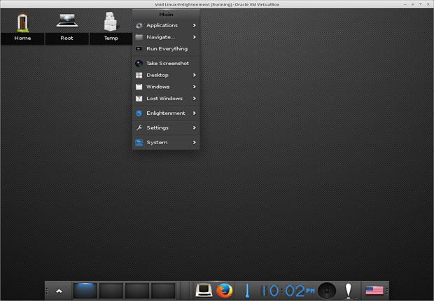 Void Linux Enlightment desktop