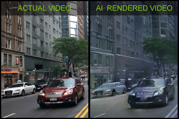 Nvidia AI-rendered video