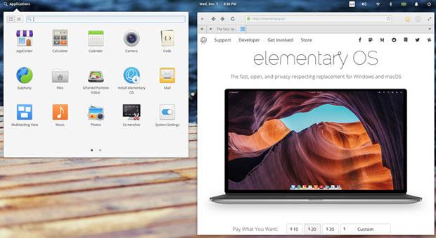 Elementary OS Pantheon Applications menu