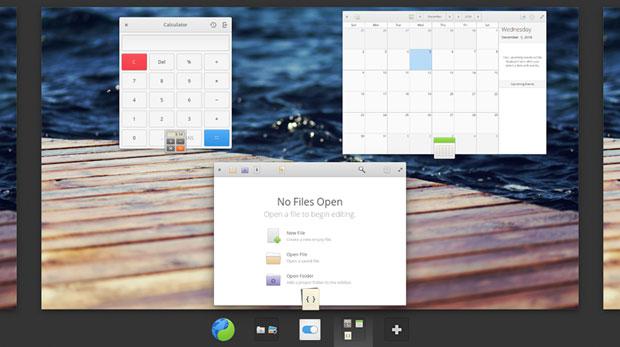 Elementary OS' multitasking controls