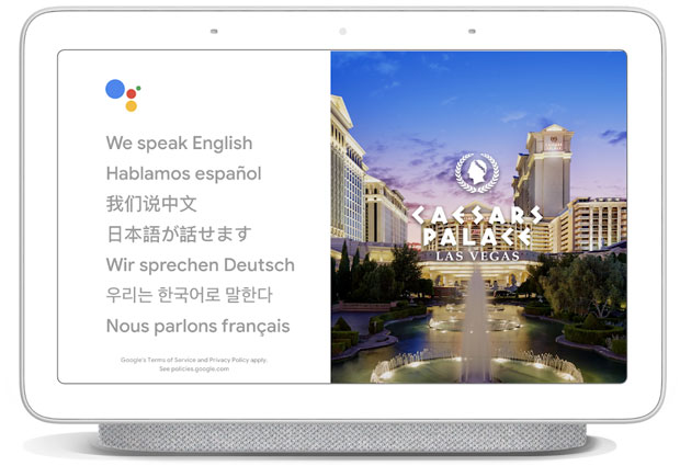 Google Assistant Caesar's Palace pilot of interpreter mode