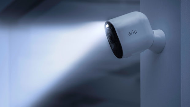Arlo Ultra 4K HDR camera with motion-activated spotlight
