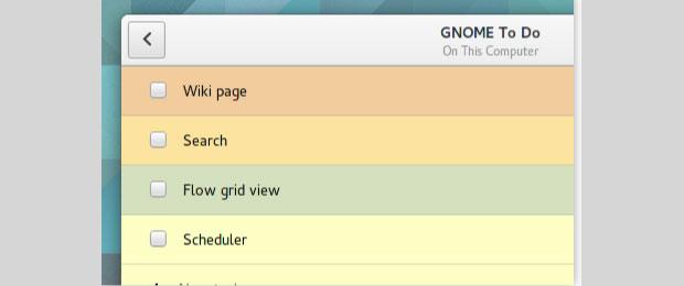 Gnome ToDo interface