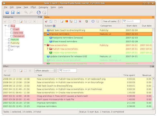 Task Coach screenshot