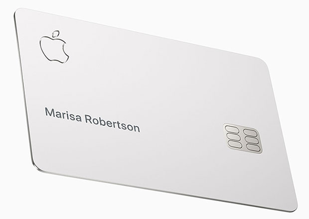 Apple-designed titanium card