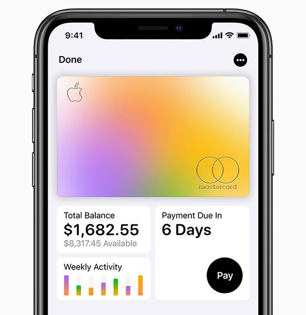 Apple Card iPhoneXS Total Balance