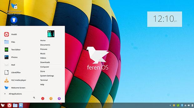 Feren OS main menu