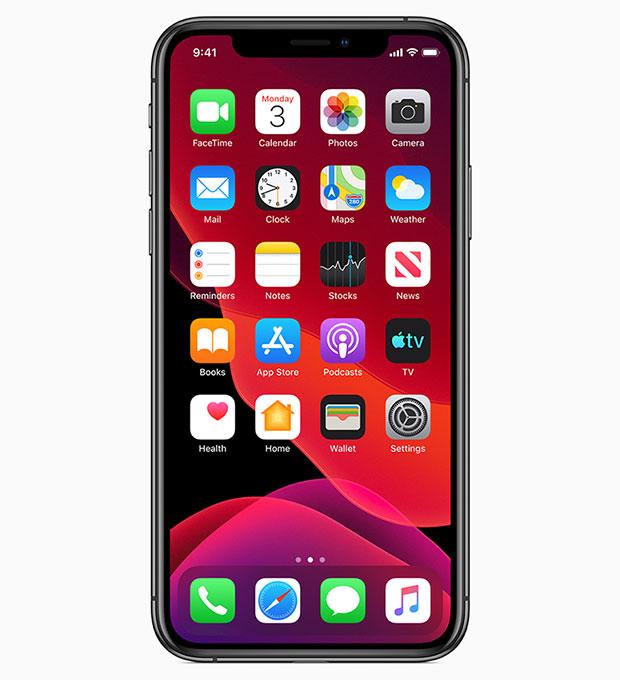 Apple iOS 13, iPhone XS