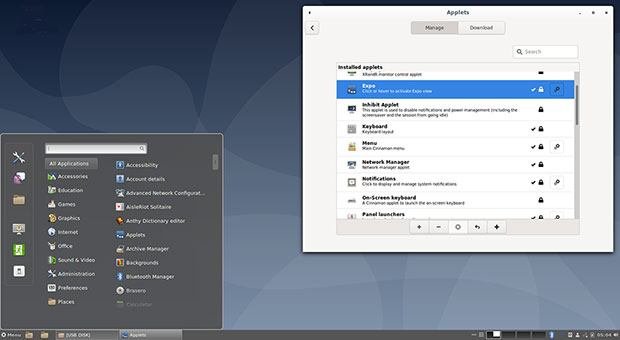 Debian 10 Cinnamon 3.8 desktop