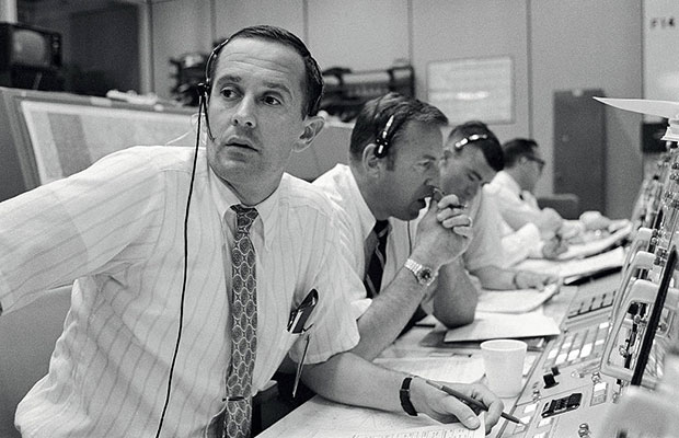 Spacecraft Communicators in Mission Control