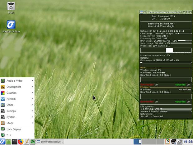 Slackel 7.2 Openbox desktop