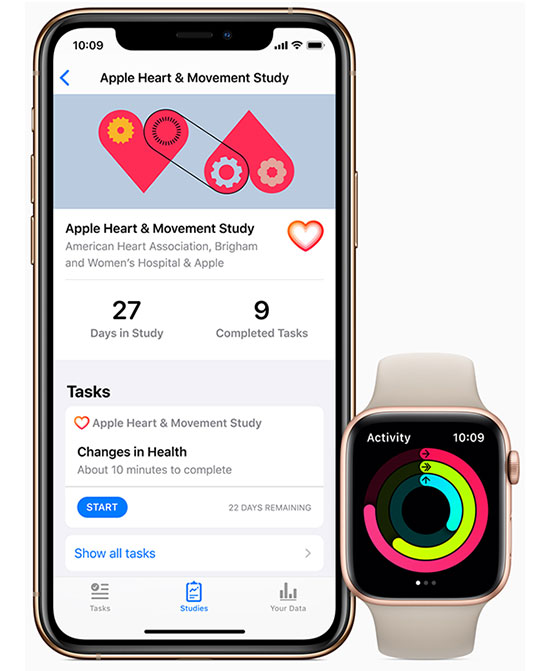 Apple Research App, iPhone 11, Apple Watch Series 5 heart and movement study