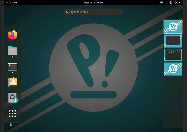 POP!_OS 20.04 workspace navigation