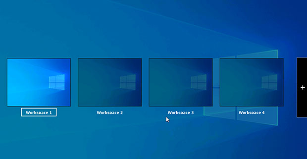 Linuxfx Windows-like view on workspace navigation