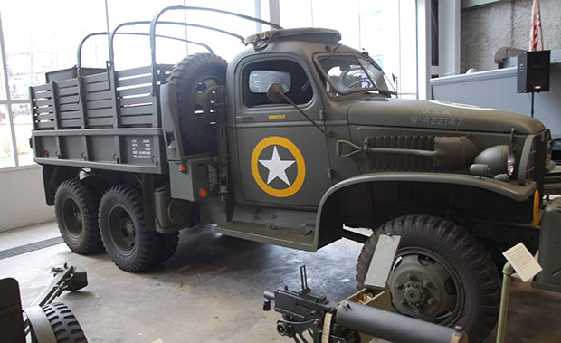 GMC truck in the National World War II Museum in New Orleans