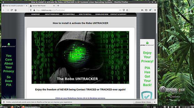 Robo Untracker installation screen