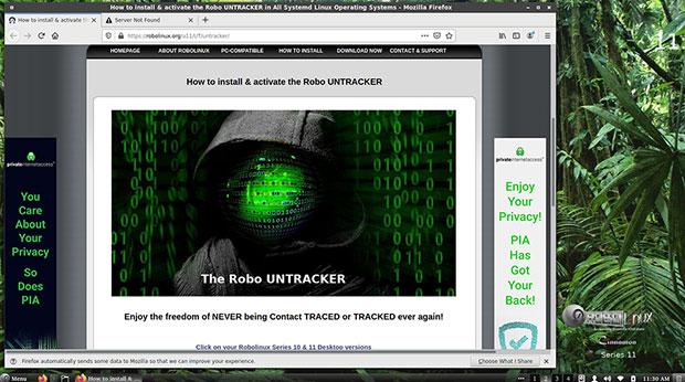 Robo Untracker installation screen