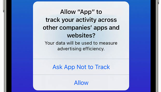 iOS 14.5 app tracking options on iPhone