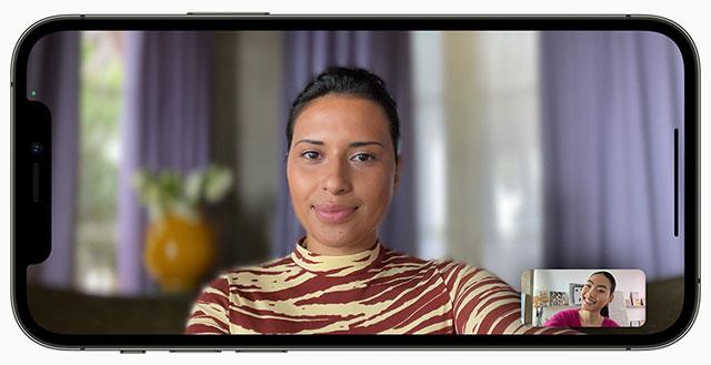 iPhone iOS 15 FaceTime Portrait Mode