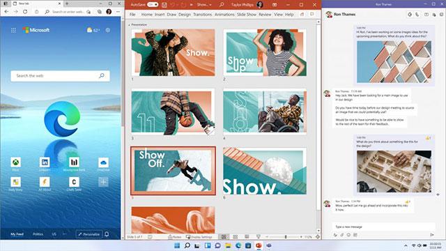 Pantalla de escritorio Snap de Windows 11