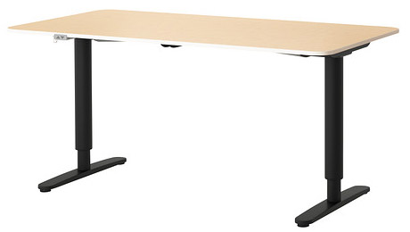 Hybrid ikea desk could get you off your duff health for Ikea motorized standing desk