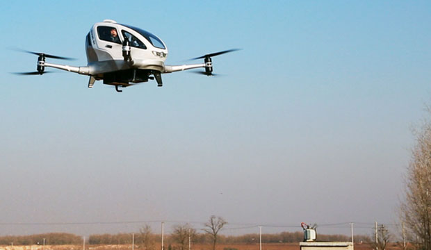 EHang Shows Off Passenger Drone's Flight Successes
