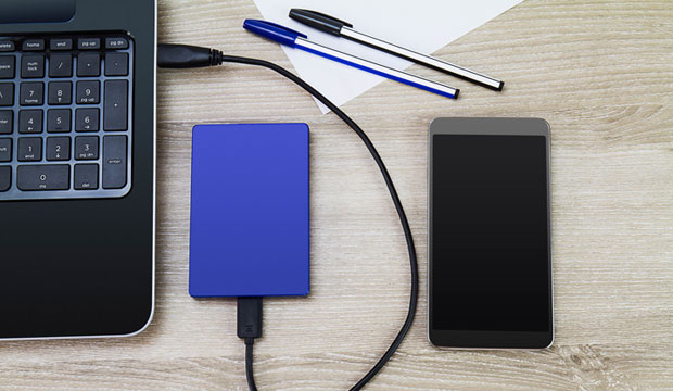 how to back up iphone to external hard drive