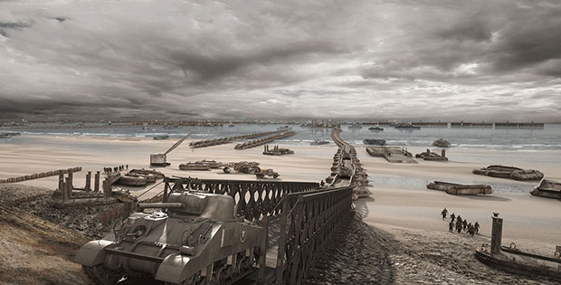 augmented reality app arromanches 44 reconstructs normandy port as it looked in 1944